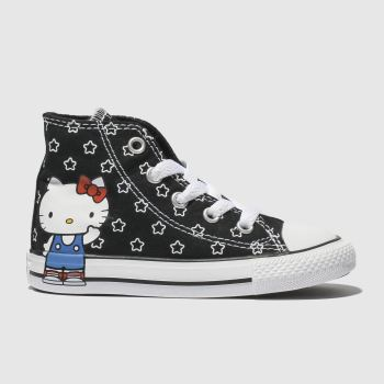 Converse Black & White ALL STAR HELLO KITTY HI Girls Toddler
