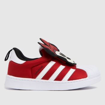 adidas Red Superstar 360 Girls Toddler