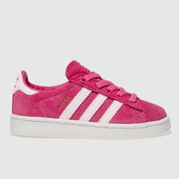 ADIDAS PINK CAMPUS TRAINERS TODDLER