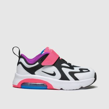 Nike White & Black Air Max 200 Girls Toddler