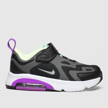 Nike Black & Purple Air Max 200 Girls Toddler