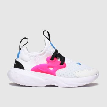 Nike White & Pink Presto React Girls Toddler