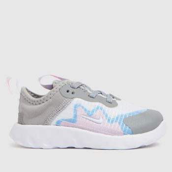 Nike White & grey Renew Lucent Girls Toddler