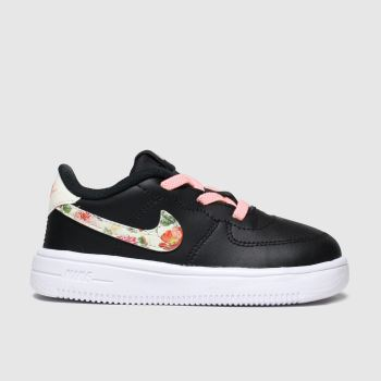 Nike Black & pink Air Force 1 18 Vf Girls Toddler