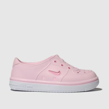 Nike Pale Pink Foam Force 1 Girls Toddler