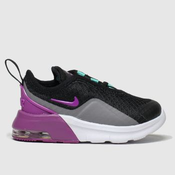 Nike Black & Purple Air Max Motion 2 Girls Toddler