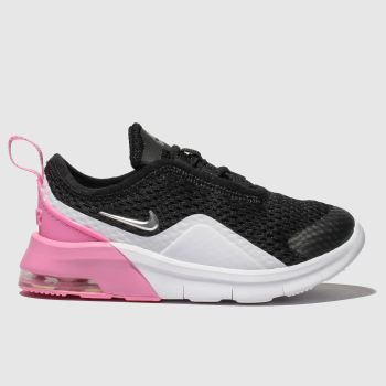 timeless design fc4a6 e1e69 Nike Black   pink Air Max Motion 2 Girls Toddler