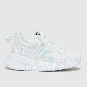 adidas White & Silver U_path Run Girls Toddler