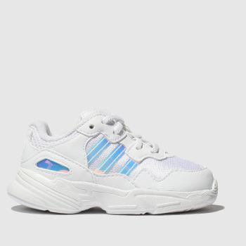Adidas White & Silver Yung 96 Girls Toddler