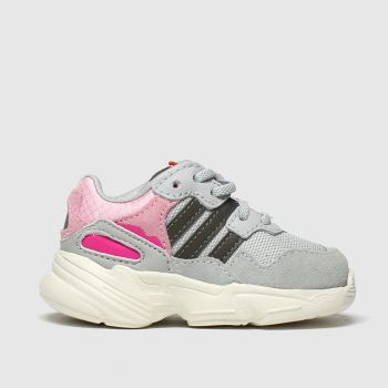 adidas light grey yung 96 trainers toddler
