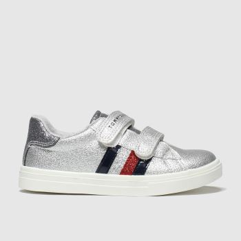 Tommy Hilfiger Silver Velcro Sneaker Girls Toddler