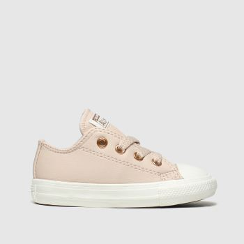 Converse Pale Pink Chuck Taylor All Star Lo Girls Toddler