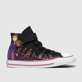 Converse Black & Purple All Star 1v Hi Anna X Frozen Girls Toddler
