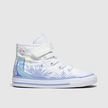 Converse White All Star 1v Hi X Frozen Girls Toddler