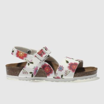 Birkenstock White Isabella Girls Toddler