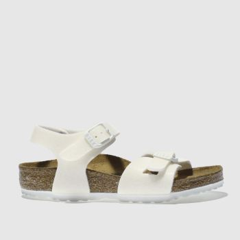 Birkenstock White Rio Girls Toddler