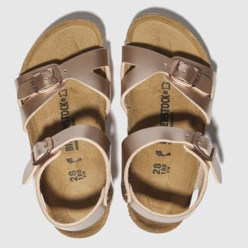 BIRKENSTOCK Bronze Rio Girls Toddler