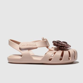 zaxy pale pink baby flower pearl sandals toddler
