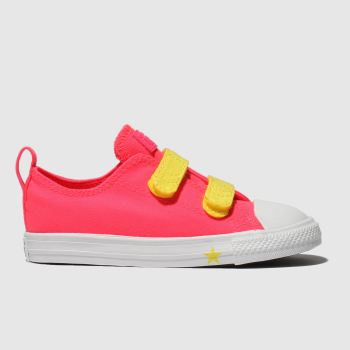 Converse Pink Chuck Taylor All Star 2V Lo Girls Toddler