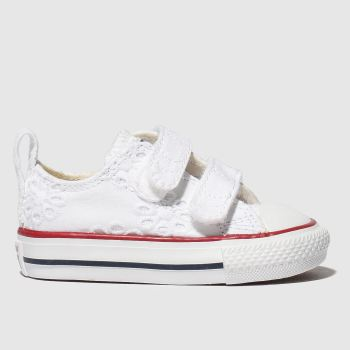Converse White All Star 2V Lo Girls Toddler