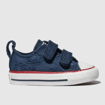 Converse Navy All Star 2V Lo Girls Toddler