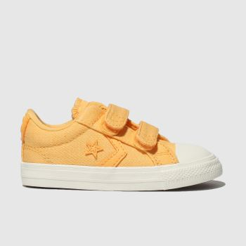 Converse Yellow Star Player 2v Lo Girls Toddler