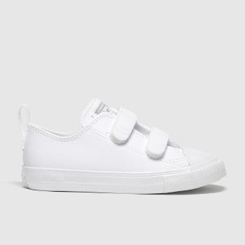 Converse White & Silver 2v Lo Girls Toddler#