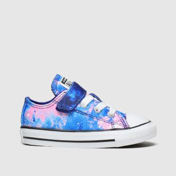 Converse Blue All Star Lo Miss Galaxy Girls Toddler