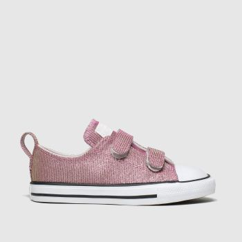 Converse Pink All Star 2v Lo Space Star c2namevalue::Girls Toddler