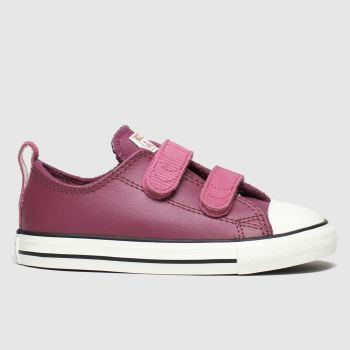 Converse Burgundy All Star 2v Lo Mission c2namevalue::Girls Toddler