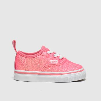Vans Peach Authentic Glitter Girls Toddler
