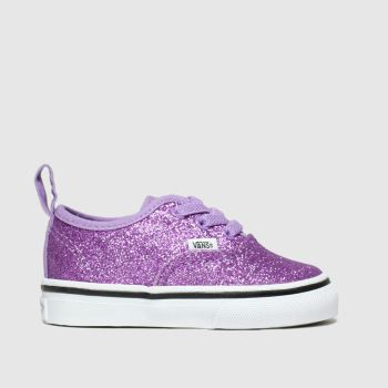 Vans Purple Authentic Glitter Girls Toddler
