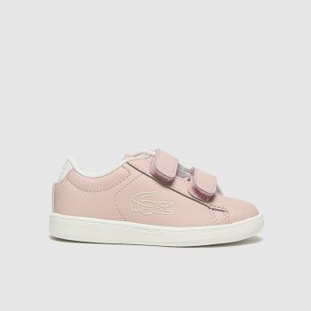 Lacoste Pale Pink Carnaby Evo Girls Toddler#