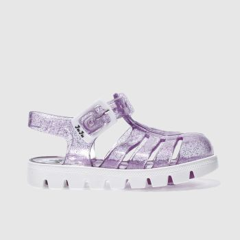 JUJU JELLIES PURPLE NINO TWO TONE GIRLS TODDLER SANDALS