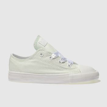 Converse Light Green ALL STAR LO POLKA DOT Girls Toddler