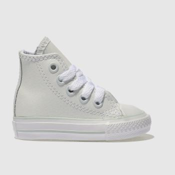 Converse White ALL STAR HI LEATHER Girls Toddler