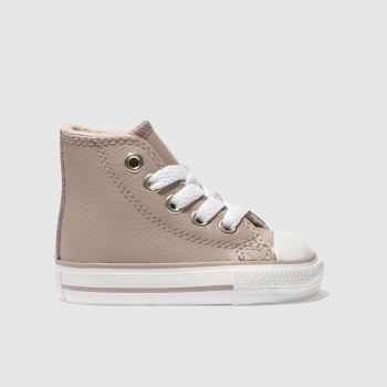 Converse Pale Pink All Star Hi Leather Girls Toddler