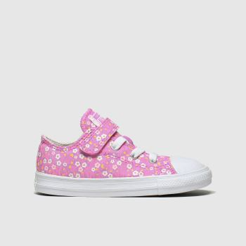 Converse Pink 1v Lo Floral Girls Toddler