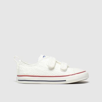 Converse White 2v Lo Miss Chuck Girls Toddler
