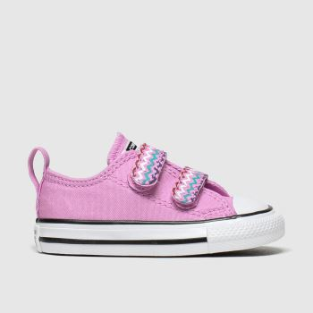 Converse Pink Ctas 2v Lo Vltg Girls Toddler