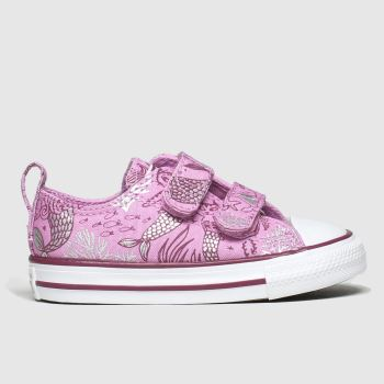 Converse Pink 2v Lo Mermaid c2namevalue::Girls Toddler