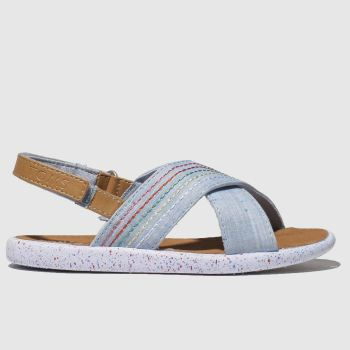 Toms Pale Blue Viv Girls Toddler