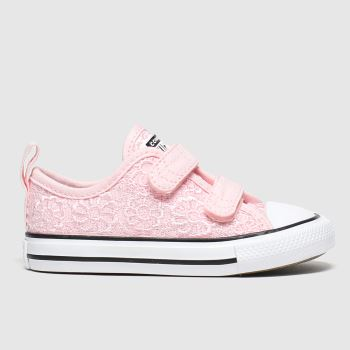 Converse Pink All Star 2v Lo Daisy Girls Toddler