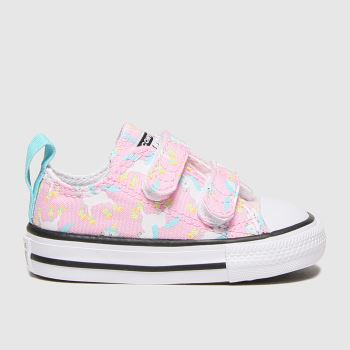 Converse Pink All Star 2v Lo Unicorn Girls Toddler