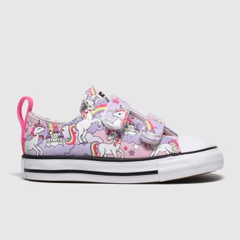 Converse Lilac All Star 2v Lo Unicorn Girls Toddler