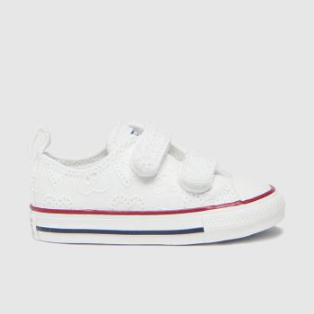 Converse White 2v Lo Love Girls Toddler