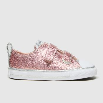 Converse Pink 2v Lo Glitter Girls Toddler