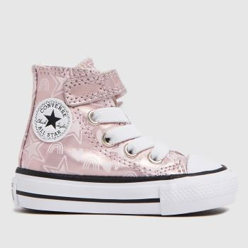 Converse Pink 1v Hi Stars Girls Toddler