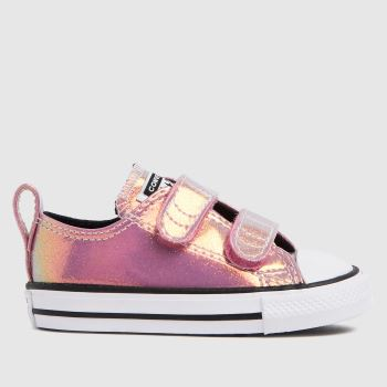 Converse Pink 2v Lo Iridescent Girls Toddler