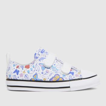 Converse White & Blue Lo 2v Butterfly Girls Toddler